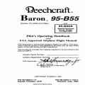 Beechcraft Baron 95-B55 and 95-B55A Pilot's Operating Handbok and FAA Approved Flight Manual 96-590011-17 96-590011-17A11