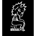 Woman Peeing Diesel! Sticker/Decals!