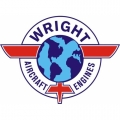 "Curtiss Wright Engine Logo Aircraft Decal/Sticker! 6 1/4""round!"