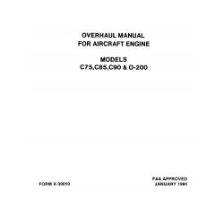 Continental Overhaul Manual X-30010 C-75, -85, -90 & O-200