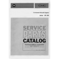 Continental Parts Catalog X-30020 GO-300 A, C, D & E1 $13.95