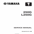 Yamaha 250G L250G Motorcycle 6S3-28197-5H-11 Service Manual 2005 $5.95