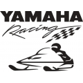 "Yamaha Racing Snowmobile Vinyl Sticker/Decal 10"" wide by 7.27"" high!"