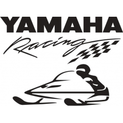 """Yamaha Racing Snowmobile Vinyl Sticker/Decal 10"""" wide by 7.27"""" high!"""