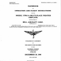 Bell YFM-1A Multi-Place Fighter Airplane Operation and Flight Instructions